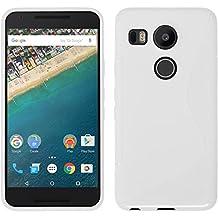 Silicone Case for Google Nexus 5X - S-Style white - Cover PhoneNatic + protective foils