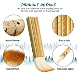 2 Pieces Hake Blender Brush 1 7/8 Inch Bamboo Brush