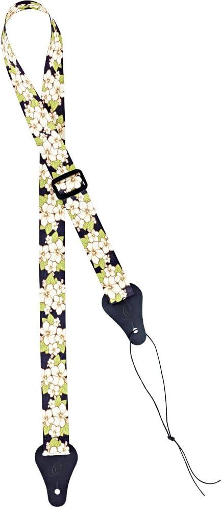 Ortega OUS-GRFL Ukulele Strap Green Flower