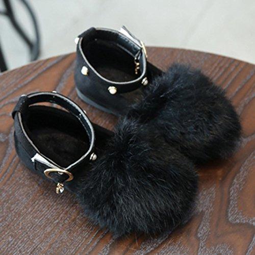 TPulling Mode Junge Und Mädchen Martin Stiefel Herbst Und Winter Plüsch Prinzessin Schuhe Lässige Schuhe Schwarz