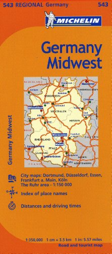 Michelin Germany Midwest Map 543 (Maps/Regional (Michelin))