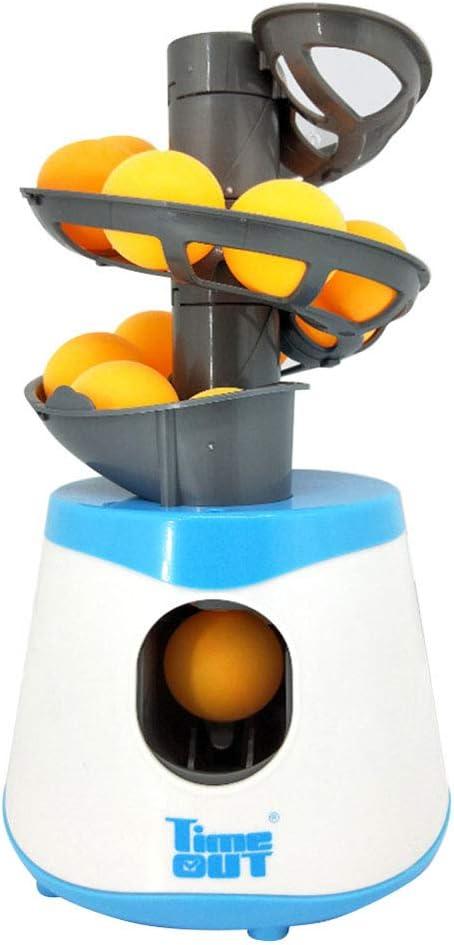 Deyan Mini Lanzador de Tenis de Mesa Padre-Hijo Estudiante Remitente Pitching Serve Machine Trainer con 10 Pelotas de Ping Pong para Deportes de Raqueta al Aire Libre en Interiores