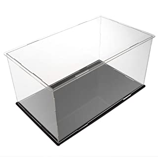 Baoblaze 28x16x14cm Self-Assembly Clear Acrylic 3D Metal Model Display Case Perspex Dustproof