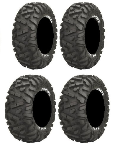 Full set of Maxxis BigHorn Radial 26x9-14 and 26x11-14 ATV Tires ()