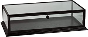 "SSWBasics Black Wood Countertop Display Case - 31¾""W x 18"" D x 8"" H"