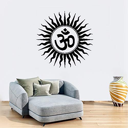 augter Removable Wall Decals Inspirational Vinyl Wall Art Om Hindu Religious India Sanskrit Symbol -