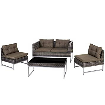 Conjunto de Muebles para jardín marrón de Acero Garden ...