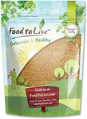 Fenugreek Seeds by Food to Live (Methi, Kosher, Bulk) — 8 Ounces