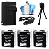 (3 Pack) PhotoMate EN-EL15 EL15 Ultra High Capacity Rechargable Battery (2600mAh), Charger, Cleaning Kit, Mini Tripod for Nikon D600, D610, D750, D800, D800E, D810, D7000, D7100, 1 V1, 1V1 DSLR Camera