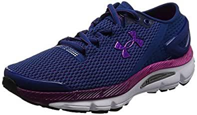 Under Armour Women's UA Speedform Gemini 2.1 Heron/White/Purple Lights Sneaker 5 B (M)