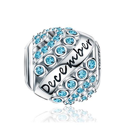 BIrthstone Charm for Pandora-Style Bracelets