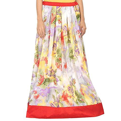 Admyrin Indian Sky Export Skirt Georgette Handicrfats Women Blue TUUEfqg