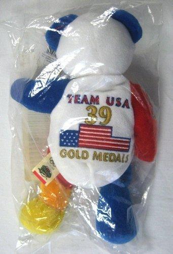 Team Ring Bear - 2000 Olympic Team USA Gold Medal Bear - 39 Gold Metals Won -NIB