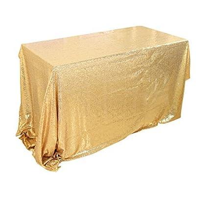 eDealMax Mantel, Sparkle lentejuelas Cubierta de mesa, 60x120 oro rosa Para la decoración de