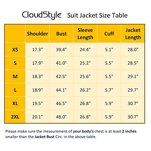 Men's Suit Jacket One Button Sli...