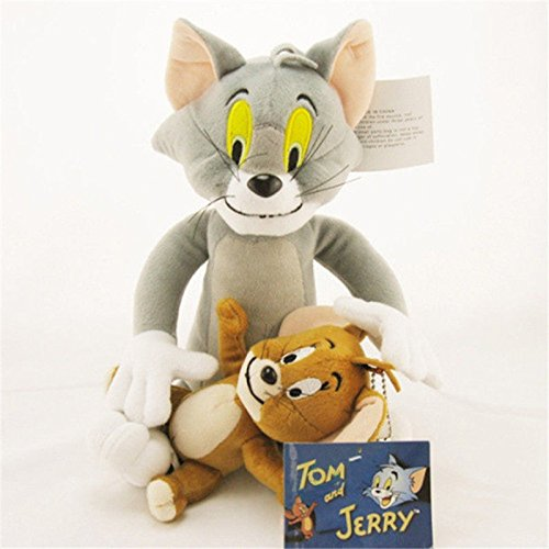 AZUM Cat & Mouse Cartoon Soft Toy Tom and Jerry Plush Doll Cute Stuffed Anime Figure