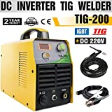 TIG Welder - TOSENBA TIG Welder TIG Welding Machine 200Amp 220V DC IGBT Inverter Digital Display Portable Tig200