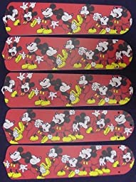 Ceiling Fan Designers 52SET-DIS-DMM Disney Mickey Mouse no.1 52 in. Ceiling Fan Blades Only
