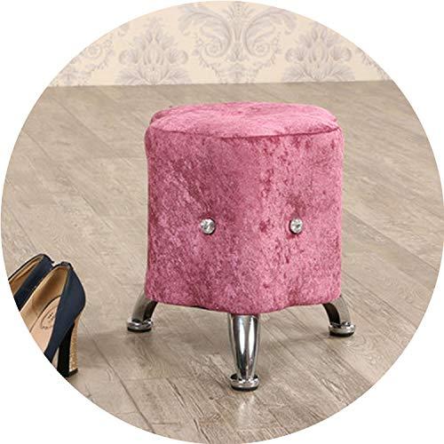 (For What Reason European Style Plum Shape Cloth Art Sofa Shoe Stool Wood Stool, Test Shoes Stool, Small Sofa,7)