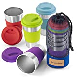 Stainless Steel Cup Tumbler Set Cold Drink Cups