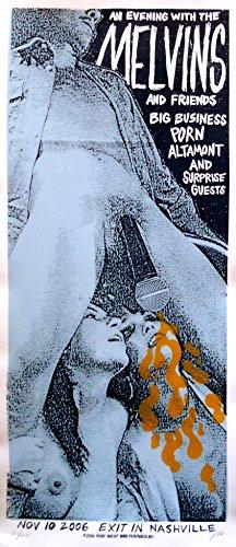 The Melvins Poster w/Big Business, Porn & Altamont 2006 Concert - Signed & Numbered Original Ed.