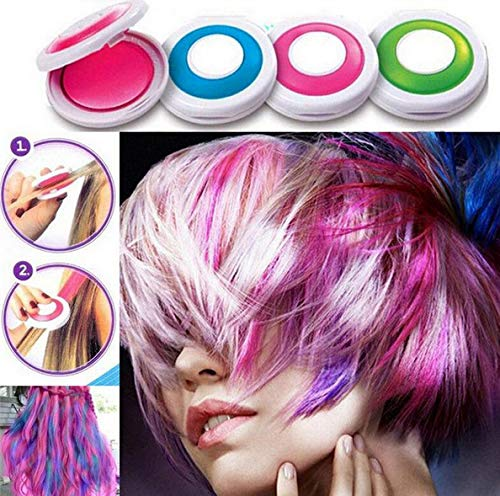 Hair Dye Box , Color Dyed Hair Powder Temporary Hair Styling, Suitable for Children's Parties and Role-Playing, The Best Temporary Non-Toxic DIY Hair Gel Powder Halloween Makeup Washable.]()