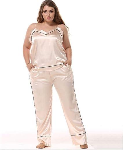 Conjunto De Pijama De Satén De Talla Grande Para Mujer ...