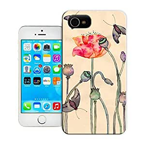 Unique Phone Case Flowers and birds Butterfly Flower drama Hard Cover for iPhone 4/4s cases-buythecase