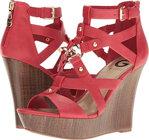 G by GUESS Womens Dodge Open Toe Casual Platform Sandals, Bold Cherry, Size 8.5