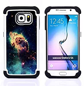 For Samsung Galaxy S6 G9200 - Stardust Galaxy Cloud Space Universe Photo Art Dual Layer caso de Shell HUELGA Impacto pata de cabra con im????genes gr????ficas Steam - Funny Shop -