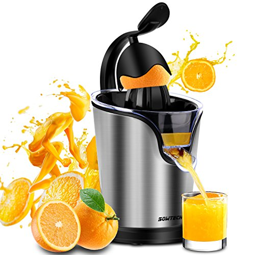 Electric Citrus Juicer Sowtech Stainless Steel Squeezer Anti-drip Citrus Press for Squeeze Fresh Orange Lemon and Lime