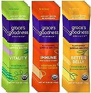 GRACE'S GOODNESS ORGANICS Vegan Plant Based Organic Vegetable Sipping Broth for Immunity, Vitality, Digestive