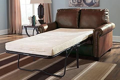Ashley Furniture Signature Design - Lottie Sleeper Sofa Love Seat - Twin Size - Chocolate (Twin Sleepers)
