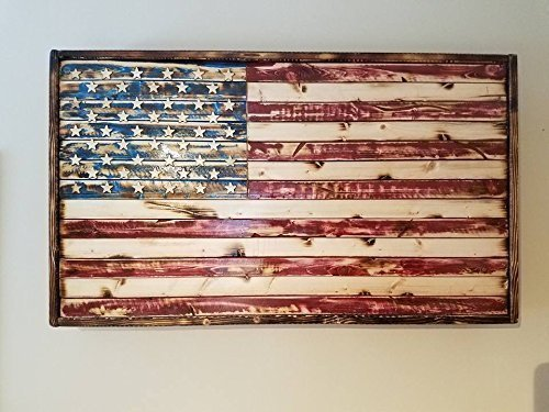 (American Flag Wall Decor| Rustic Wood | Faded Glory)