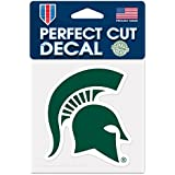 """NCAA Michigan State University 52849012 Perfect Cut Color Decal, 4"""" x 4"""", Green"""