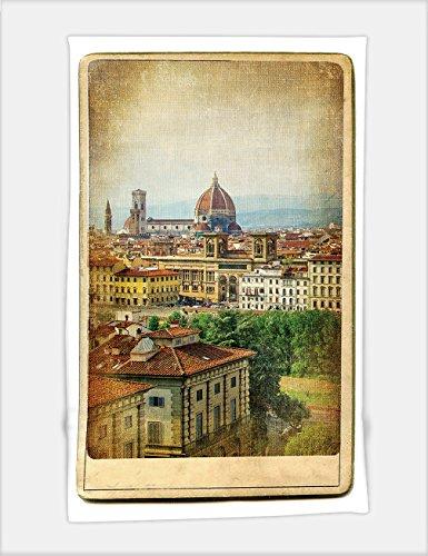Minicoso Bath Towel european landmarks series vintage card florence 37130851 For Spa Beach Pool - Florence Hut