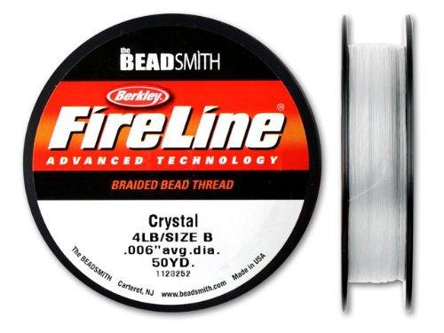 FireLine Braided Bead Thread, 0.006-Inch, Crystal Clear