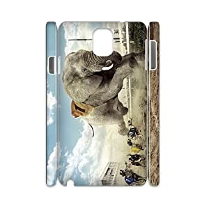 Iphone 4,4S Gentle elephant 3D Art Print Design Phone Back Case DIY Hard Shell Protection FG022590