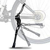 """Bicycle Kickstand - Adjustable Strong Durable Aluminum Alloy Side Anti-Slip Stand Fits 20"""" 24"""" 26"""" inch wheel tire cycling mountain bike"""