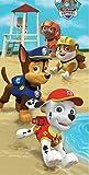 Paw Patrol Beach Towel For Kids - Paw Patrol Puppy Run Theme 28 x 58 in
