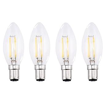 Blanc Filament 4w Bonlux 4 Pack Cool Sbc Led Ampoule B15 Bougie htrxsQBdC