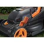"""WORX WG779 40V Power Share 4.0 Ah 14"""" Lawn Mower w/ Mulching & Intellicut (2x20V Batteries) 18 Dual 20V Power Share batteries deliver 40V of Maximum Power and Performance Patented intellicut technology delivers Power on demand save Your battery for when you Really need it Foam padded handles provides a comfortable grip for reduced fatigue while cutting"""