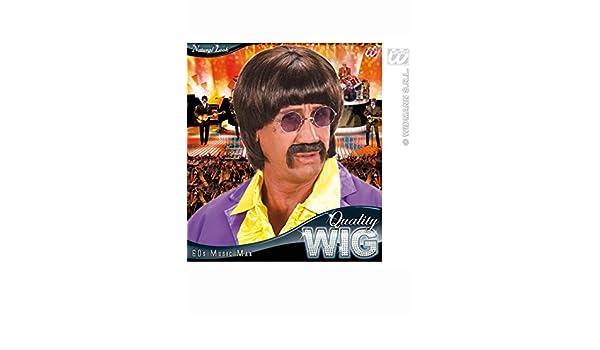 Peluca del hombre de la música del estilo 60s Brown de John Lennon: Amazon.es: Juguetes y juegos