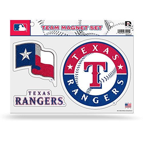 Rico MLB Texas Rangers Bling Team Magnet Set with Team Logos, 8.5 x 11-Inch, Clear