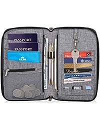 Premium Family Travel Document Organizer Capacious RFID 1-3 Passport Holder Wallet (Medium)