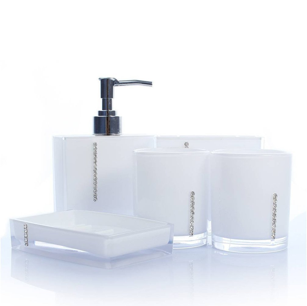Amazon.com: JynXos Bathroom Accessory Set 5 pieces Soap Dish ...