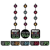 Creative Converting Holy Bleep 3 Count Hanging Cutout Party Decorations with Customizable Stickers (3-Pack)