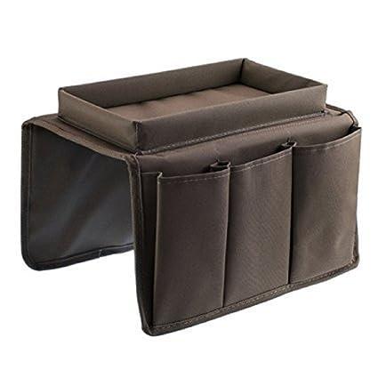 Saianke - Organizador de sofá para mandos TV y otros aparatos, organizador para brazo de sofá con espacio portavasos, se ajusta a sillones y sofás, ...
