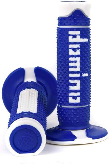 Domino Poign/ées guidon cross Full Grip bleu blanc