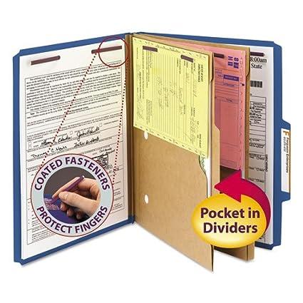 Carpetas clasificadoras de cartón prensado, 2 separadores de ...